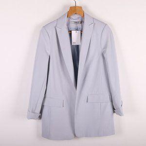 ASOS Gray Basic Mid Length Open Blazer NWT